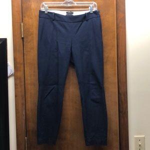 J. Crew Navy Minnie crop pants, size 4, VGUC